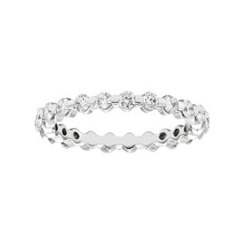 1 Carat T.W. IGI Certified Diamond 14k White Gold Eternity Ring