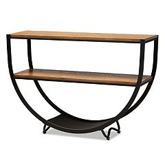 Baxton Studio Blakes Metal Console Table
