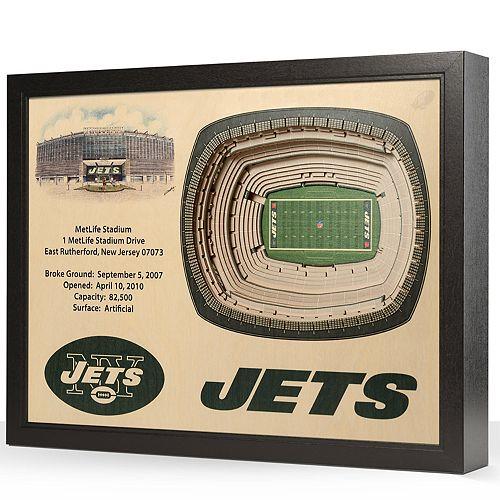 New York Jets StadiumViews 3D Wall Art