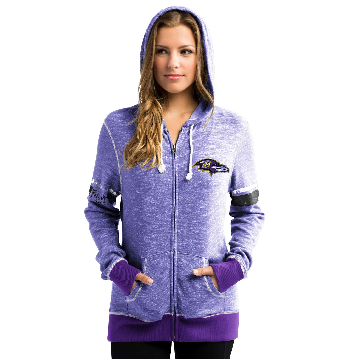 Womens Majestic Baltimore Ravens Athletic Tradition Hoodie