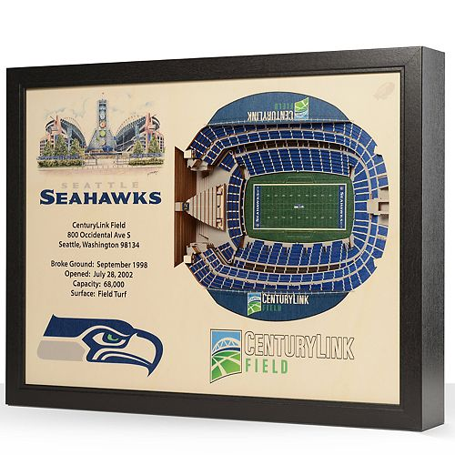 Seattle Seahawks StadiumViews 3D Wall Art