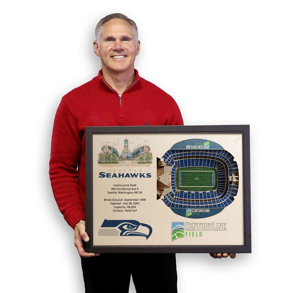 Seattle Seahawks StadiumViews 3D Wall Art