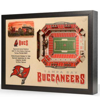 Tampa Bay Buccaneers StadiumViews 3D Wall Art