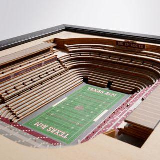 Texas A&M Aggies StadiumViews 3D Wall Art