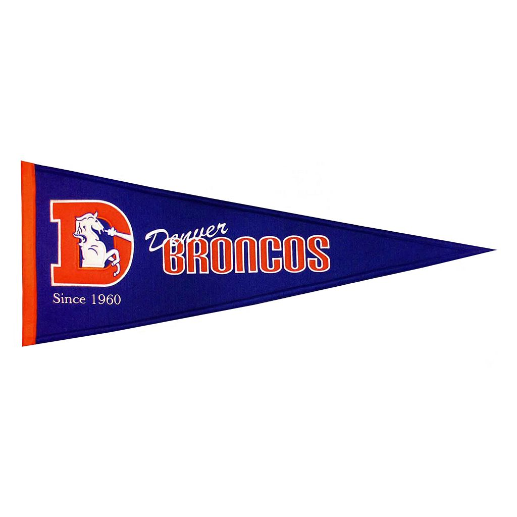 Denver Broncos Throwback Pennant