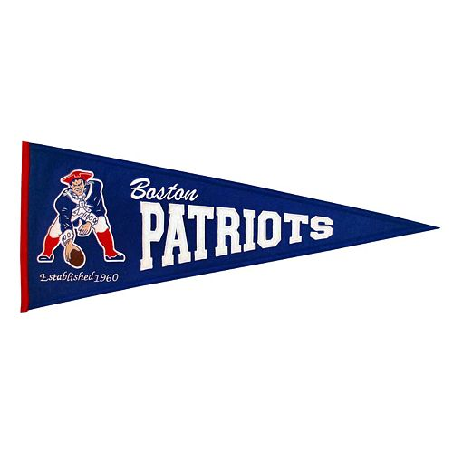 New England Patriots Throwback Pennant