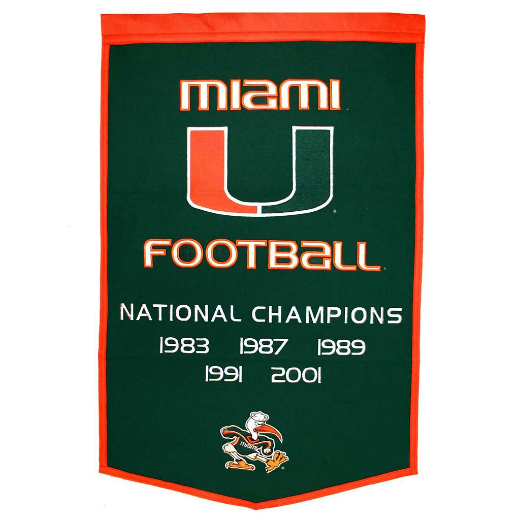 Miami Hurricanes Dynasty Banner