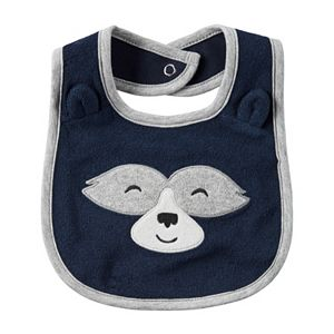 Baby Boy Carter's Friendly Face Applique Bib