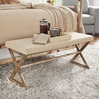 HomeVance Desiree Wide Metal Bench