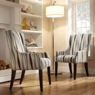 HomeVance Camille Vertical Wavy Sloped Arm Chair