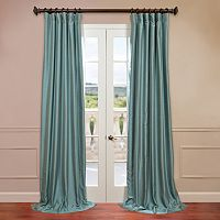 EFF Solid Yarn-Dyed Faux-Dupioni Silk Curtain