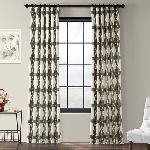 EFF 1-Panel Sorong Lined Window Curtain