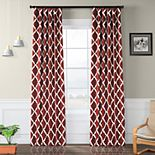 EFF Blackout 1-Panel Trellise Window Curtain