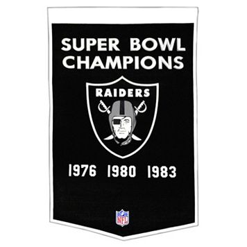 Oakland Raiders Dynasty Banner