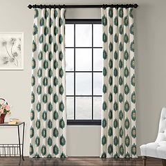 EFF 1-Panel Mayan Lined Window Curtain