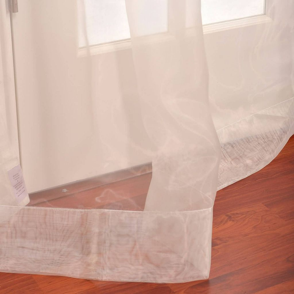 EFF 2-pack Solid Sheer Faux-Organza Curtains