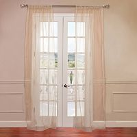 EFF 2-pack Solid Sheer Faux-Organza Window Curtains