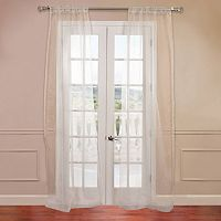 EFF Solid Sheer Faux-Organza Window Curtain Set
