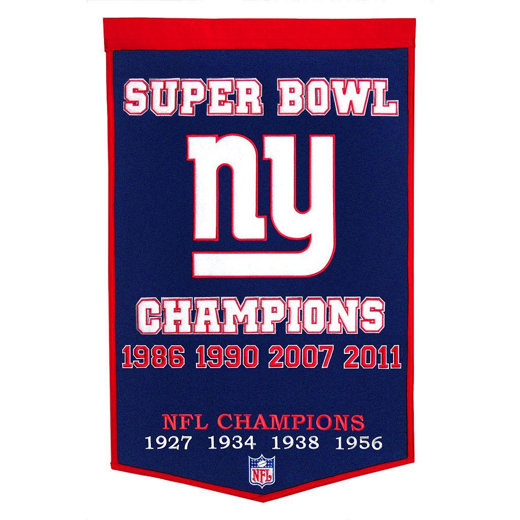 New York Giants Dynasty Banner