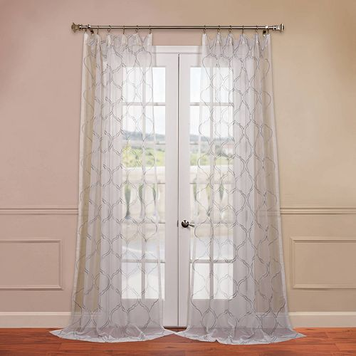 EFF 1-Panel Florentina Embroidered Sheer Window Curtain