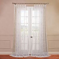 EFF Florentina Embroidered Sheer Window Curtain