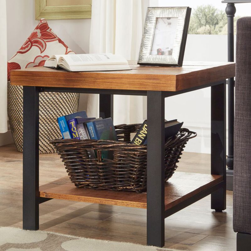 HomeVance Drake End Table, Brown