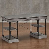 HomeVance Cresthill Metal Frame Desk