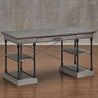 HomeVance Cresthill Metal Frame Desk