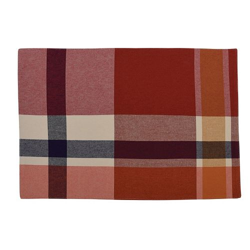 Fiesta Soiree Plaid Placemat - Single or 4-pack