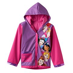 Disney Princess Girls 2-8 'Girls Can Do Anything' Rain Coat