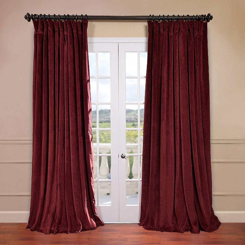 EFF Signature Velvet Double-Wide Blackout Window Curtain