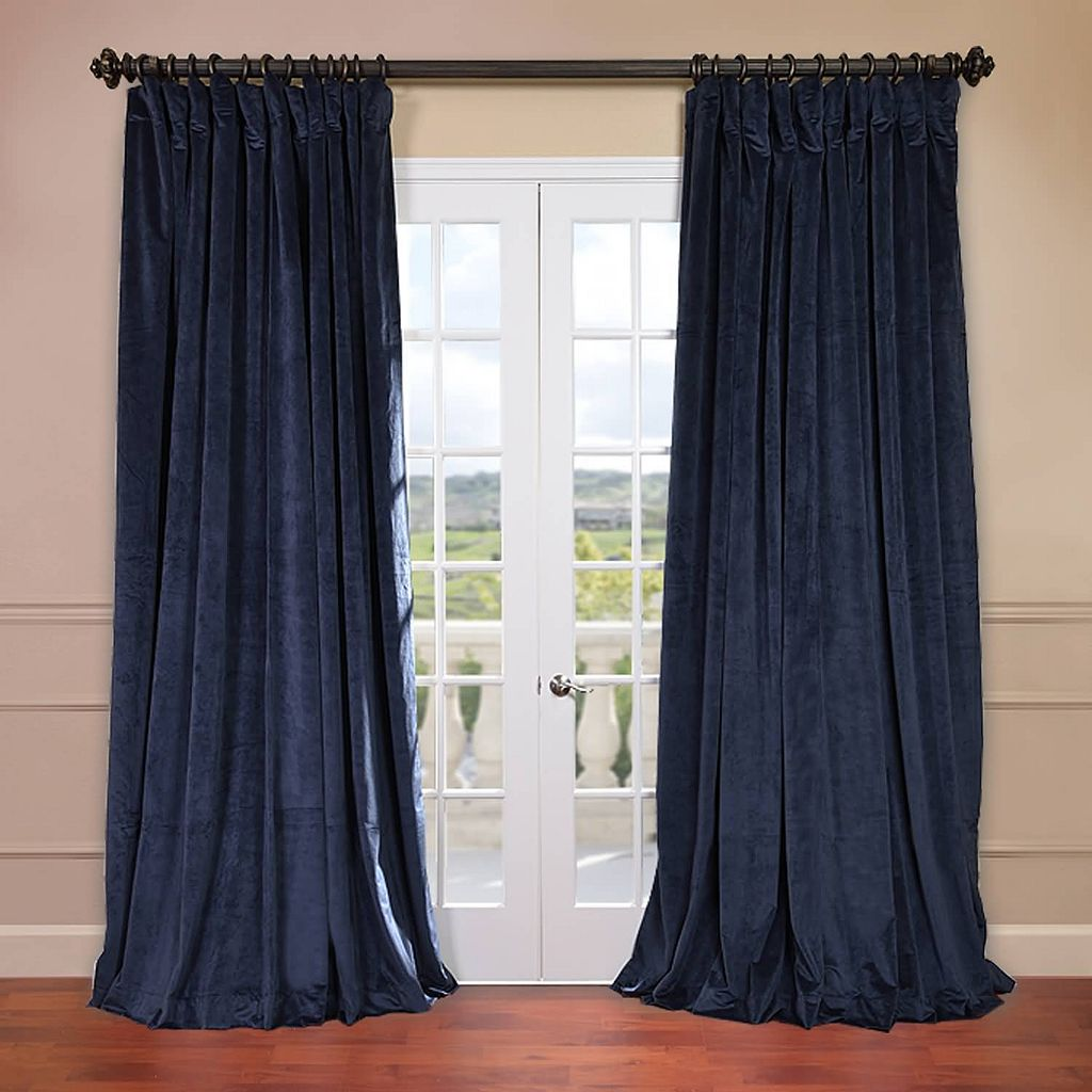 EFF Signature Velvet Double-Wide Blackout Curtain
