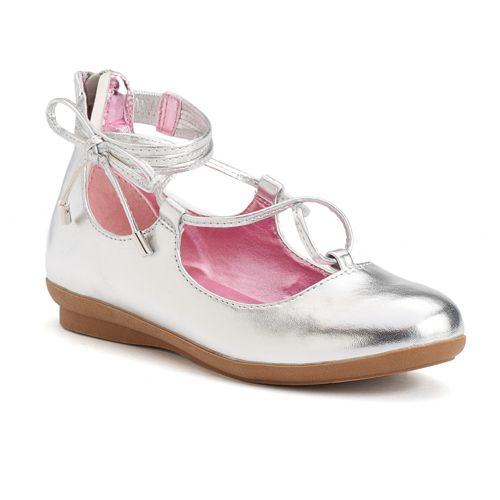 Candie's® Girls' Lace-Up Ballet Flats