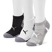 Women's PUMA 3-pk. Cushioned Low-Cut Socks