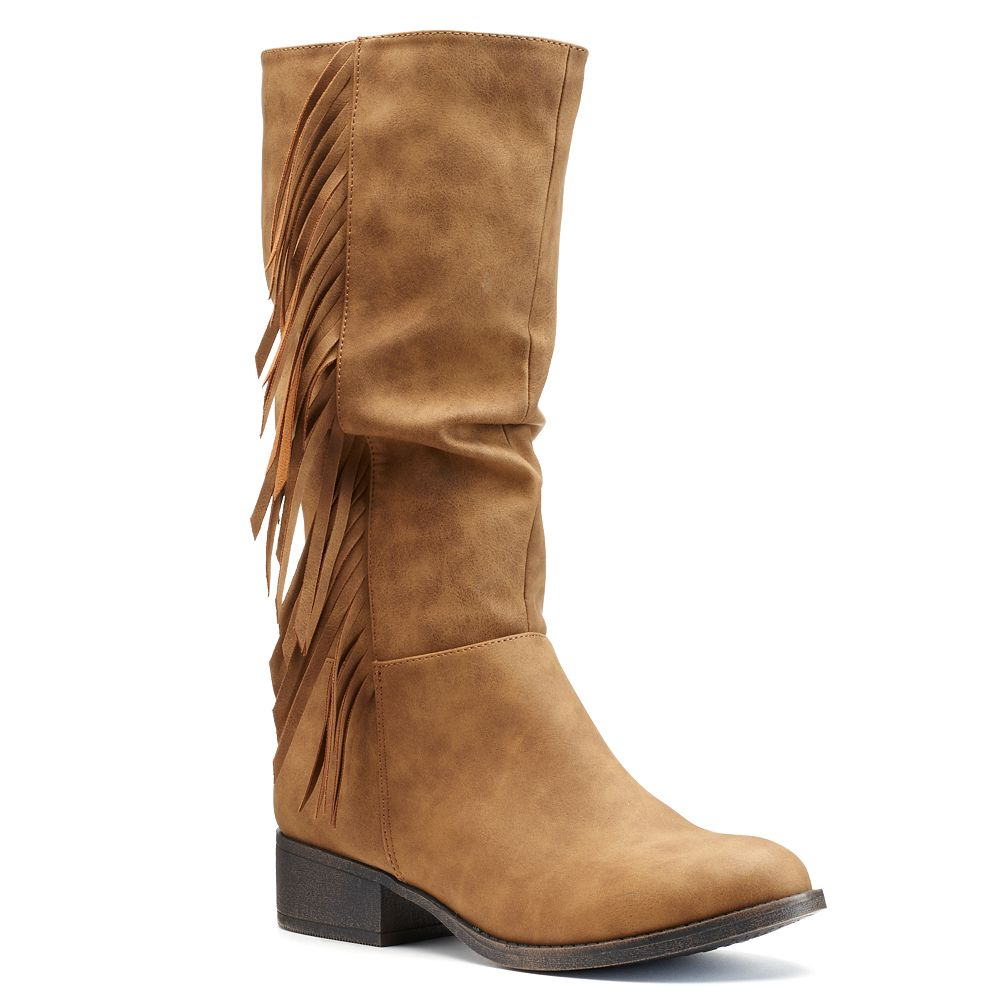 Girls' Tall Fringe Riding Boots