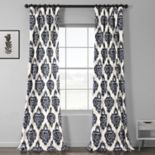 EFF 1-Panel Ikat Lined Window Curtain