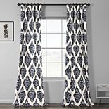 EFF 1-Panel Ikat Lined Window Curtain