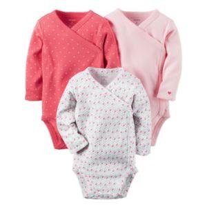 Baby Girl Carter's 3-pk. Side-Snap Bodysuits