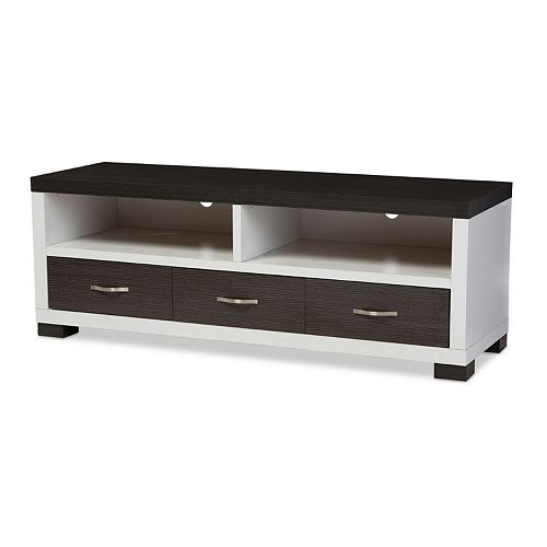 Baxton Studio Oxley Two-Tone 59-in. TV Cabinet