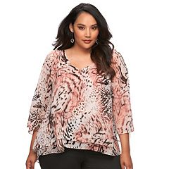 Plus Size Jennifer Lopez Chiffon Blouse