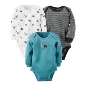 Baby Boy Carter's 3-pk. Woodland Thermal Bodysuits
