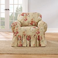 Sure Fit Waverly Ballad Bouquet T-Chair Slipcover