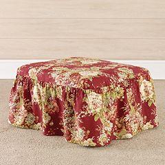 Sure Fit Waverly Ballad Bouquet 2-piece Ottoman Slipcover