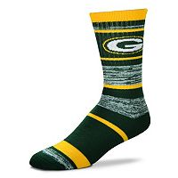 Adult For Bare Feet Green Bay Packers RMC Stripe Crew Socks