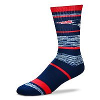 Adult For Bare Feet New England Patriots RMC Stripe Crew Socks
