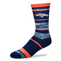 Adult For Bare Feet Denver Broncos RMC Stripe Crew Socks