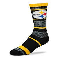 Adult For Bare Feet Pittsburgh Steelers RMC Stripe Crew Socks