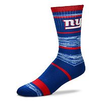 Adult For Bare Feet New York Giants RMC Stripe Crew Socks