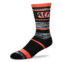 Adult For Bare Feet Cincinnati Bengals RMC Stripe Crew Socks