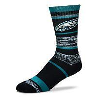 Adult For Bare Feet Philadelphia Eagles RMC Stripe Crew Socks